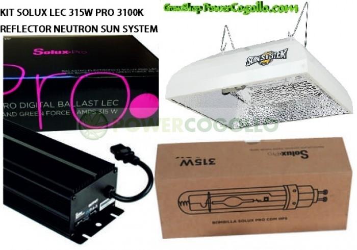KIT SOLUX LEC 315W PRO 3100K NEUTRON SUN SYSTEM