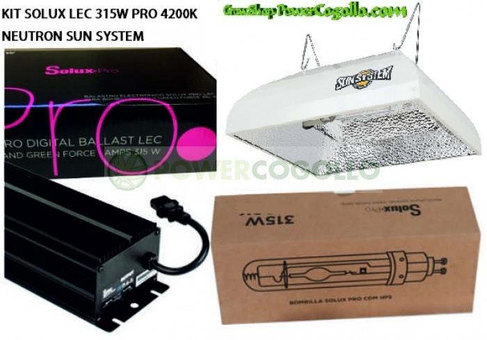KIT SOLUX LEC 315W PRO 4200K NEUTRON SUN SYSTEM
