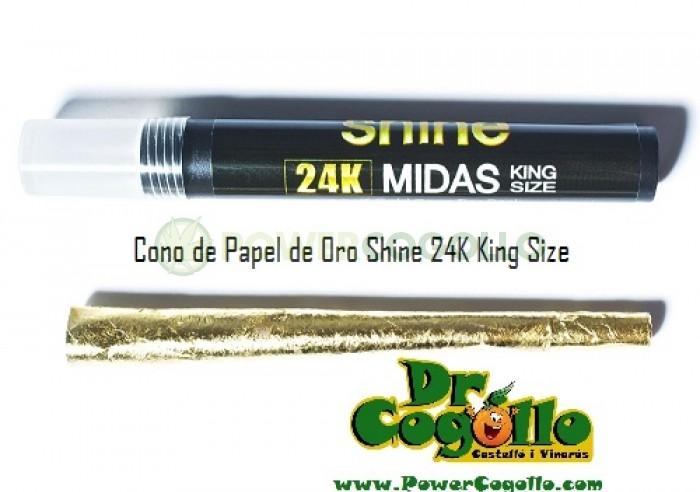 Cono de Papel de Oro Shine 24K King Size