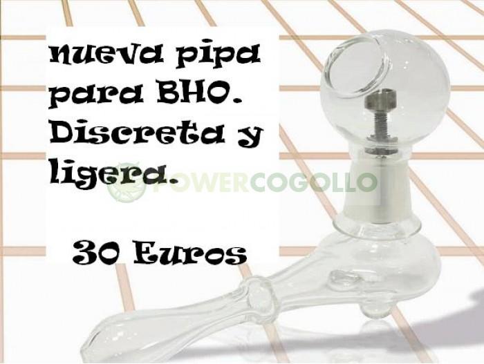 Pipa de Cristal BHO Tornillo Titanio para fumar REsinas