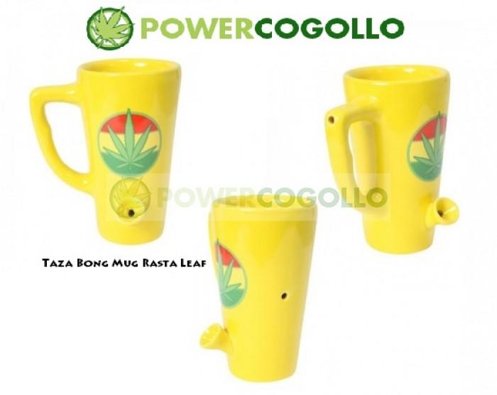 Taza Bong Mug Rasta Leaf