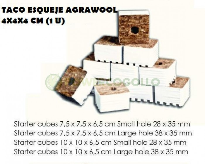 Taco Esqueje AgraWool 4X4X4cm