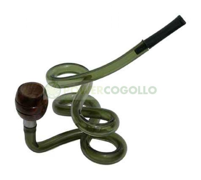 Pipa Metacrilato Espiral verde 1
