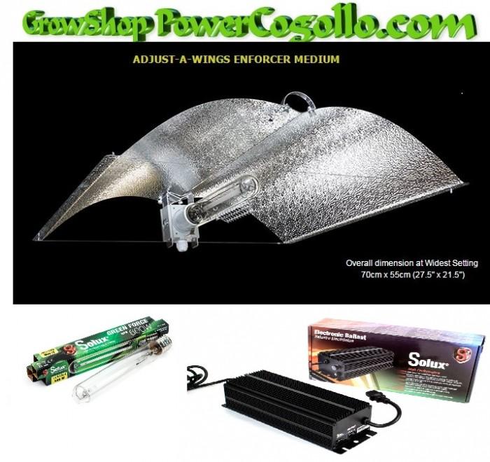 Kit 600 w Solux Digital Adjust-A-Wings Medium