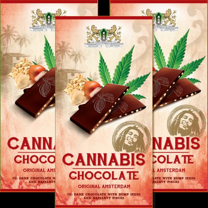 CHOCOLATE NEGRO 70% CON SEMILLAS DE CANNABIS Y AVELLANAS