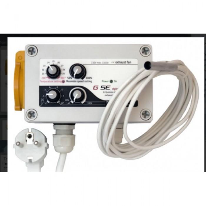 Controlador de temperatura, velocidad mínima y máxima e histéresis