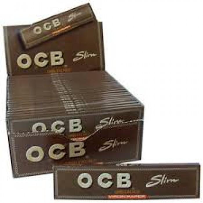 Librillo de Papel de fumar OCB Virgin No Blanqueado Marrón Natural