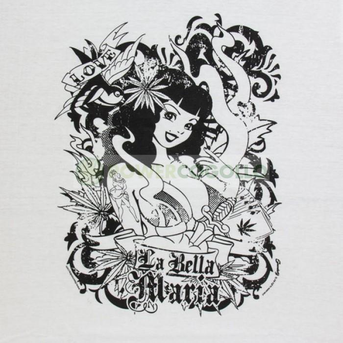 Camiseta de La Bella Maria de Smonkey-Cannabis T-Shirt