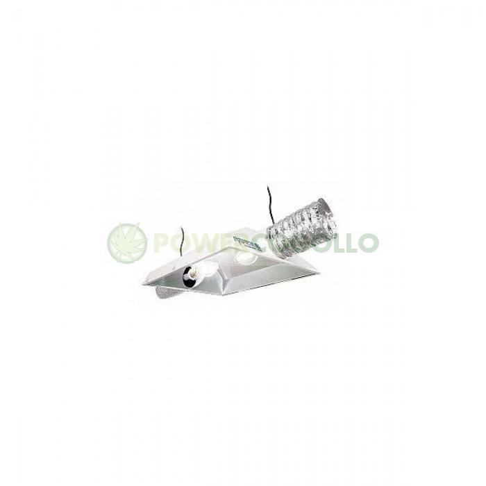 """Reflector Raptor 8"""" 200 mm AC Reflector Dual, con dos casquillos para 2 lámparas."""
