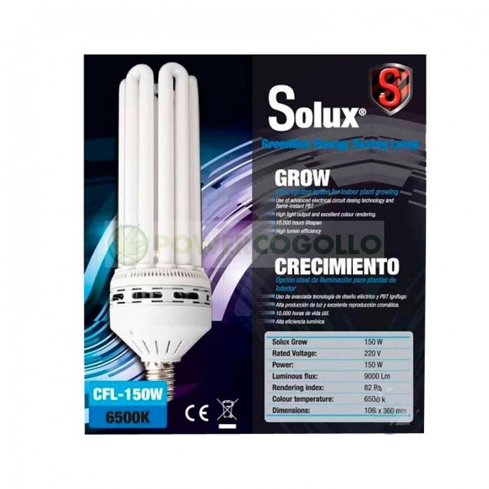 Kit CFL Bajo Consumo SOLUX Crecimiento 6500k para madres o esquejes