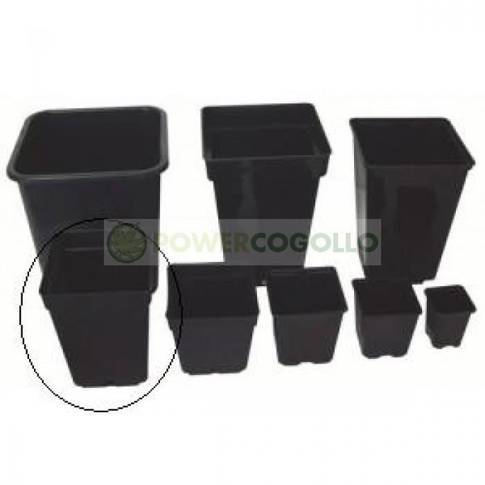 Maceta Cuadrada Negra 15x15x20cm (3L) para cultiv