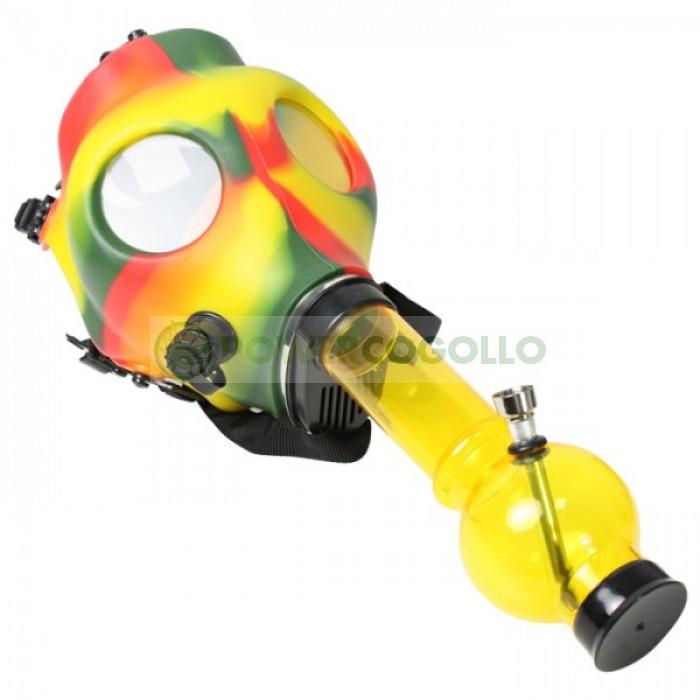Bong Máscara de Gas Rasta