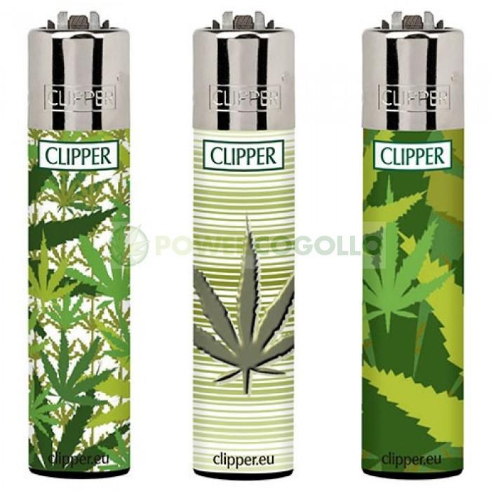 Mechero Clipper Hojas Marihuana