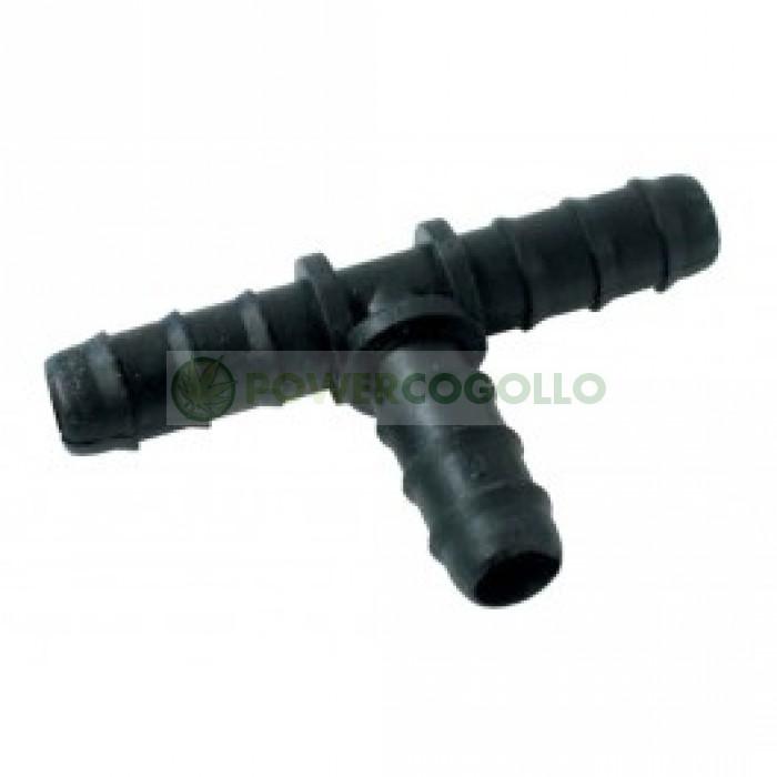 Unión T 16mm  Para riego por goteo.