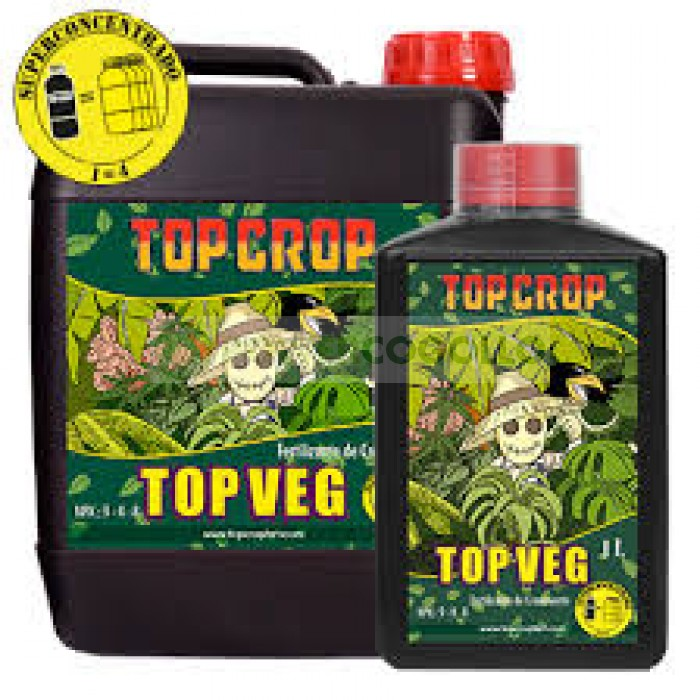 Top Veg 5 Lt de Top Crop Abono para el Crecimieto del Cannabis 100% Natural