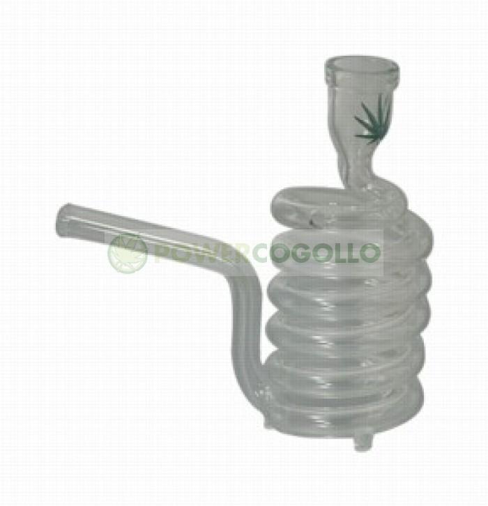 Pipa Cristal Espiral con Maletin