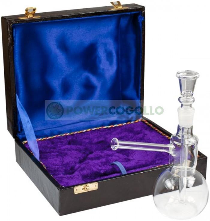 Bong Cristal 14cm con Maletín