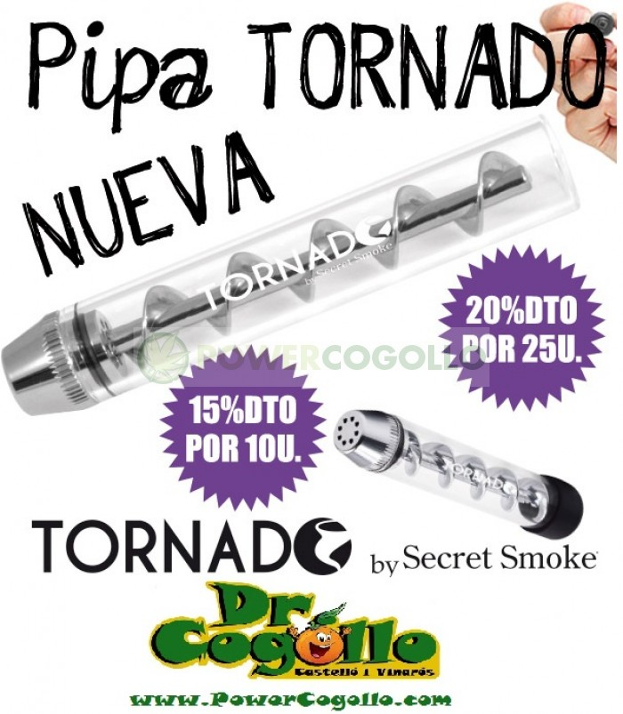 Pipa Tornado Twisty Glass Blunt