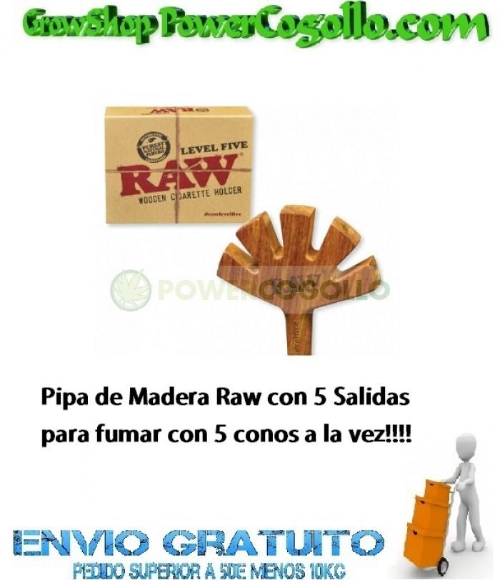 Pipa de Madera Raw con 5 Salidas para fumar con 5 conos a la vez!!!!