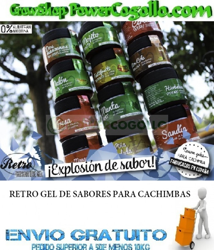 RETRO GEL SABORES SHISHA (150gr)