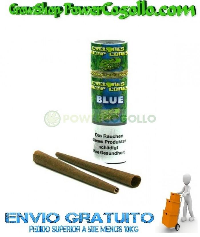 Cones Cyclones Hemp Blunt Blue (2 conos)