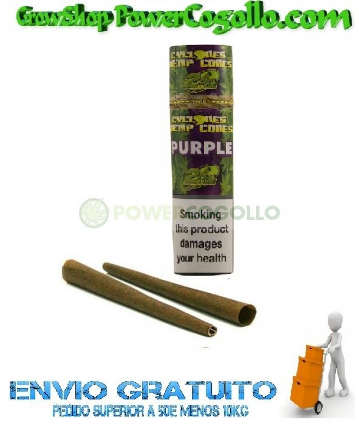Cones Cyclones Hemp Blunt Purple (2 conos)