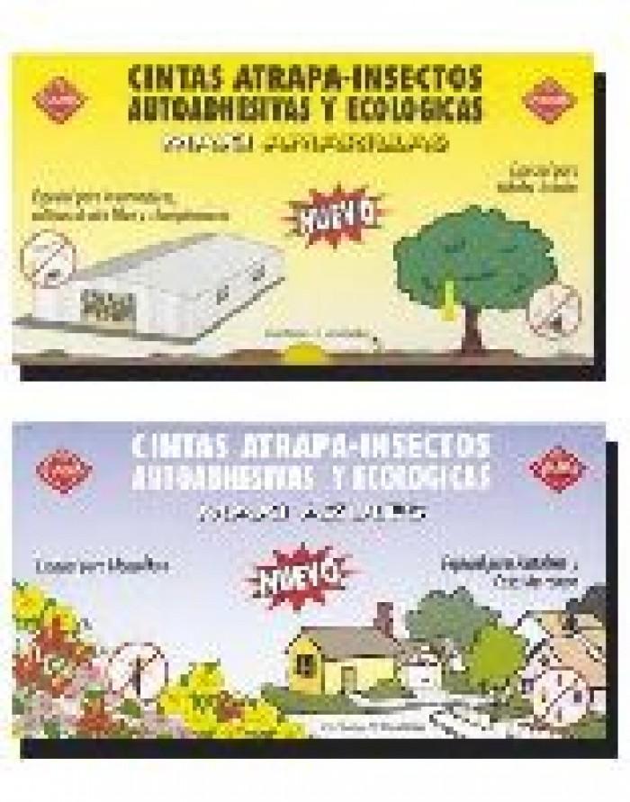 Trampas Adhesivas Amarillas anti plagas en el cultivo