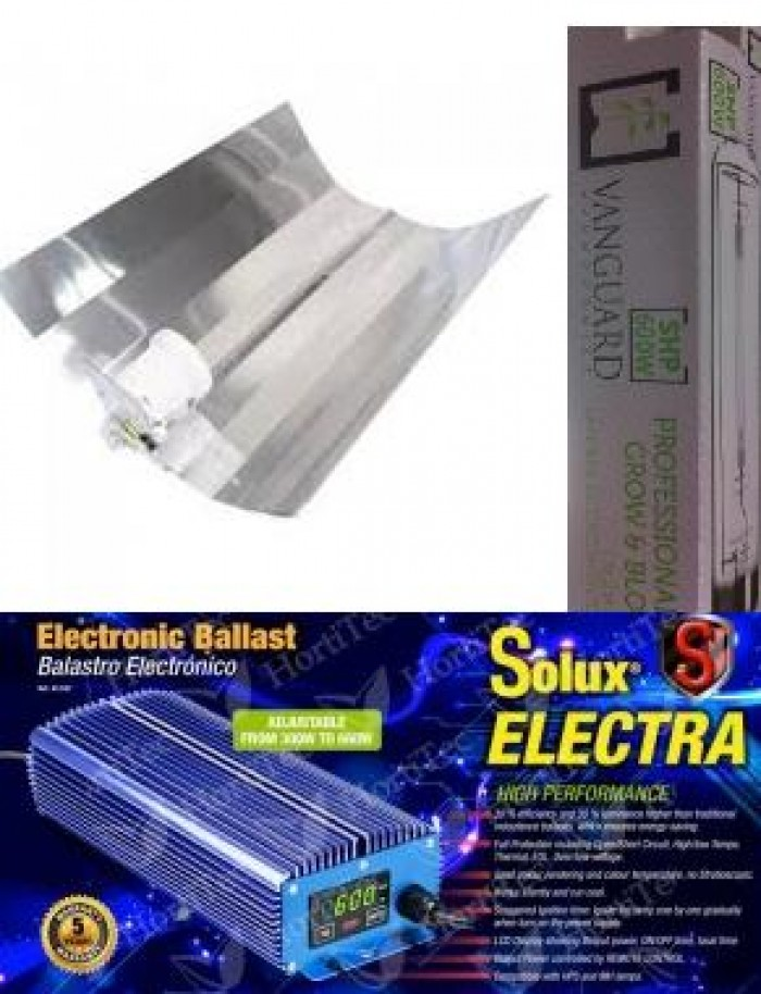 KIT 600 W DIGITAL REGULABLE SOLUX ELECTRA MANDO A DISTANCIA