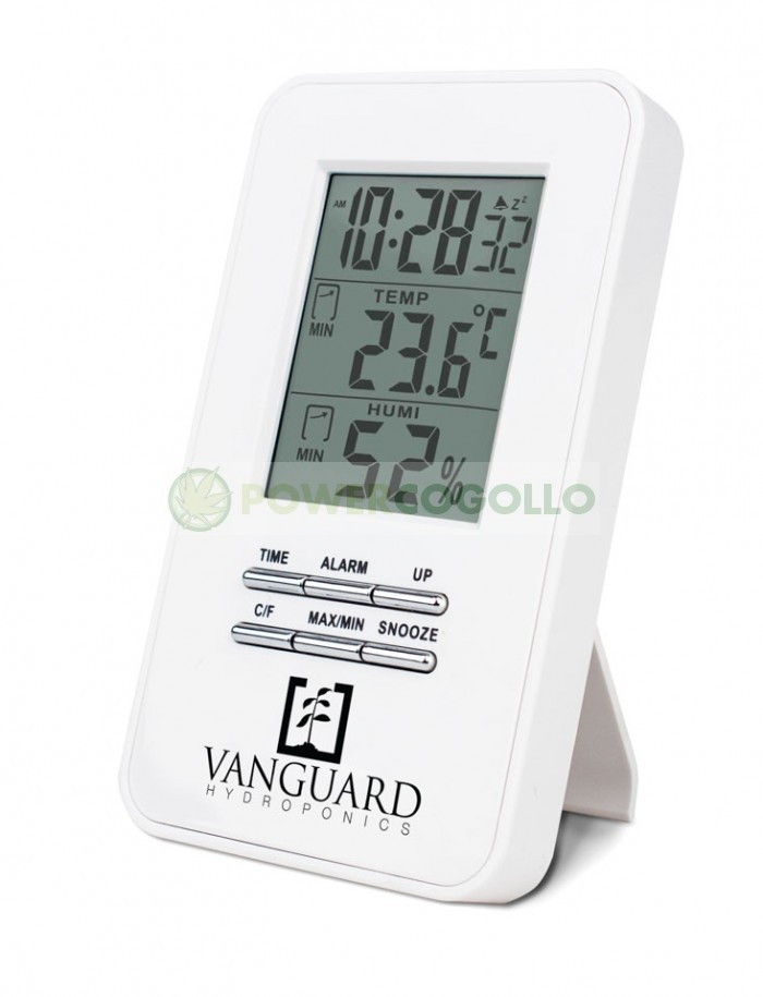 Termómetro Higrómetro Digital Máx/Mín VANGUARD para el control de clima en el cultivo interior