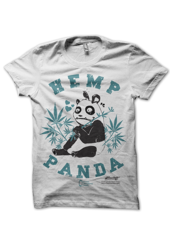 Camiseta Hemp Panda de Smonkey T-Shirt Cannabica