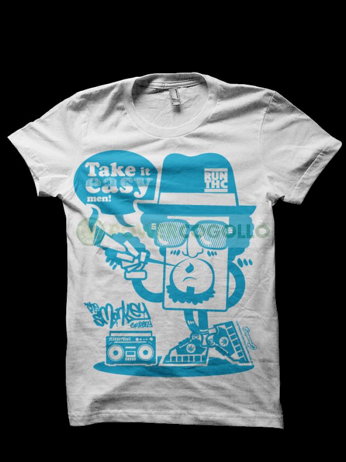 Camiseta Run THC - Smonkey T-Shirt- Cannabis