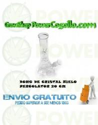 BONG CRISTAL HIELO PERCOLATOR 20 CM