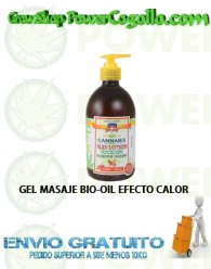 GEL MASAJE BIO-OIL EFECTO CALOR 500ML PALACIO