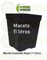 Maceta Cuadrada Negra 11 Litros (22x22x22cm)
