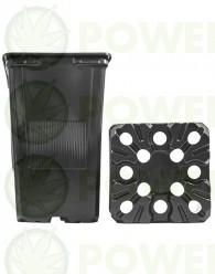 Maceta Cuadrada Negra 11x11x15,5 (1,80L)