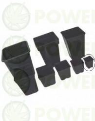 Maceta Negra Cuadrada 7x7x8 (0.23L) para esquejes