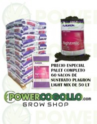 Palet Sustrato Plagron Light Mix 50 Lt (60 sacos)