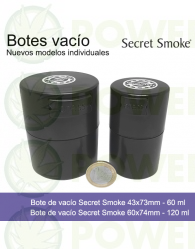Bote de vacío Secret Smoke 120ml