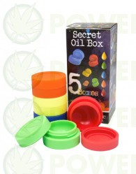 Bote Silicona para BHO Secret Oil Box (5 unidades)