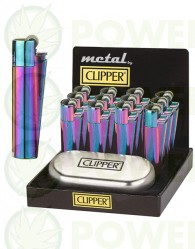 Mechero Clipper Icy Colours + Caja Metálica