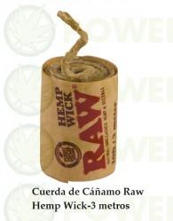 Cuerda de Cáñamo Raw Hemp Wick-3 mt