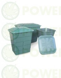 Depósito Agua Cuadrado Verde