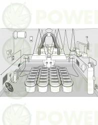 Kit de Cultivo Profesional 400w Completo