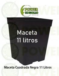 Maceta Cuadrada Negra 11 Litros (22x22x26cm)