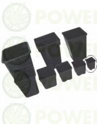 Maceta Negra Cuadrada 7x7x8 (0.23L)