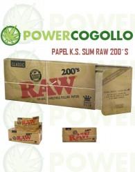 Papel de Fumar RAW K.S. Slim 200´s