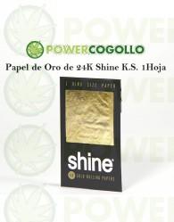 Papel de Oro 24K Shine King Size 1 Hoja
