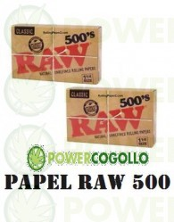 Papel Raw 1 1/4 500 Papelillos