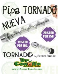 Pipa Tornado Twisty Glass Blunt