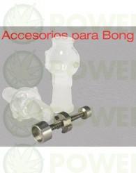 Set BHO para Bong 19mm (Tornillo Titanio + 2 cazoletas)